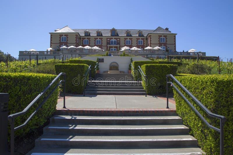 Cantina di Domaine Carneros in Napa Valley, California immagini stock libere da diritti
