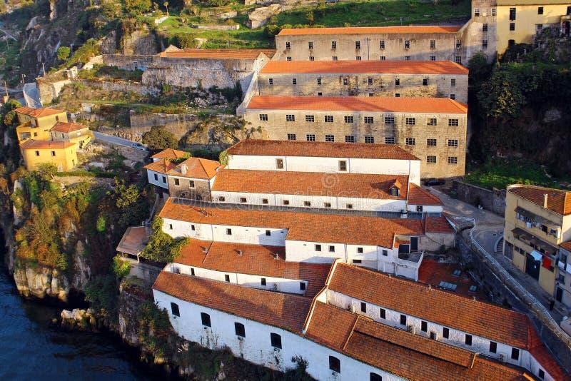 Cantine di Vila Nova de Gaia, Portogallo fotografia stock libera da diritti