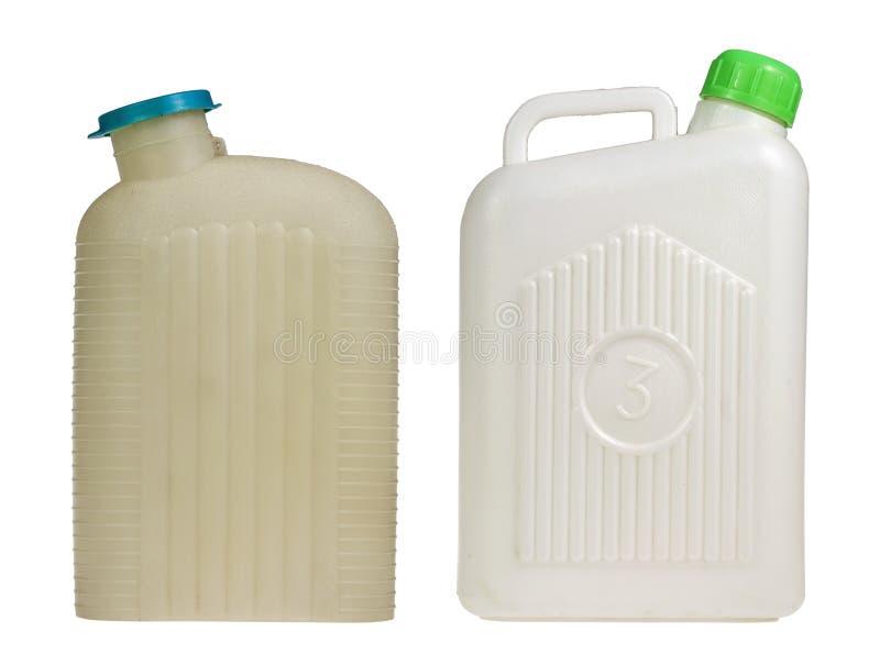 Cantine en plastique de l'eau photos stock