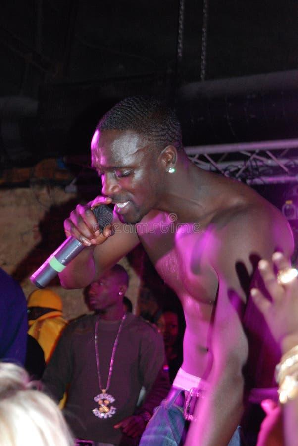 Canto Akon foto de archivo libre de regalías