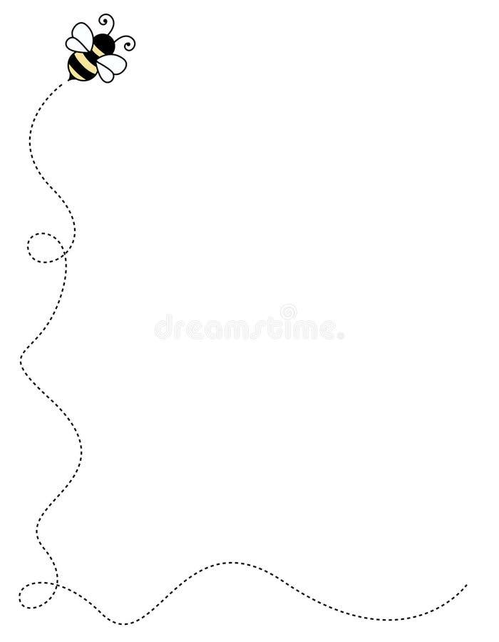 Canto/beira da abelha ilustração royalty free