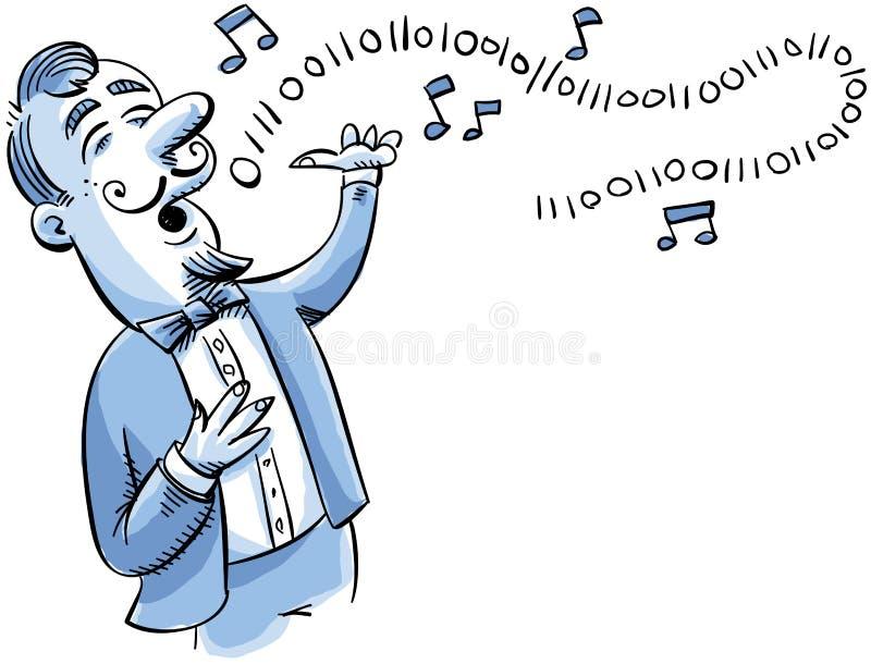 Canto binário ilustração do vetor