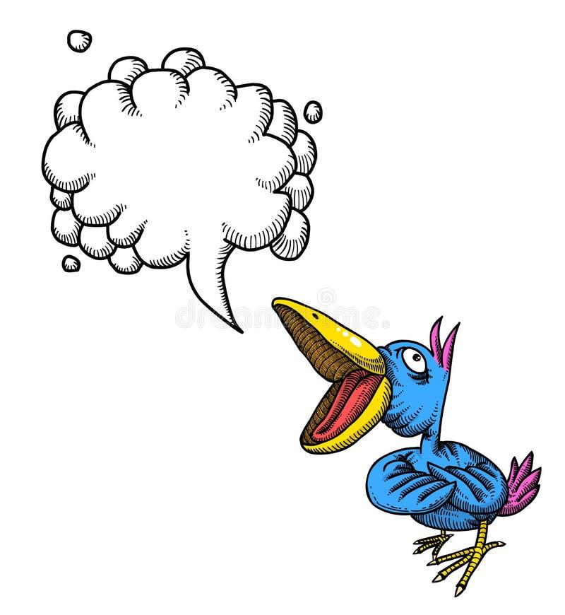 Canto bird-100 ilustração royalty free