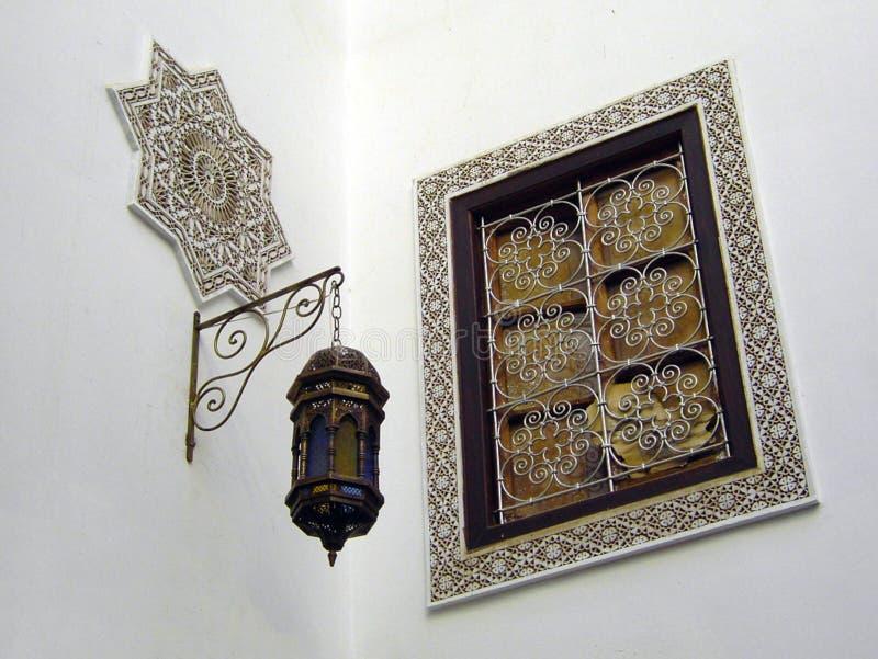 Canto branco marroquino imagem de stock royalty free