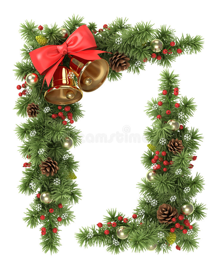 Canto da árvore de Natal ilustração do vetor