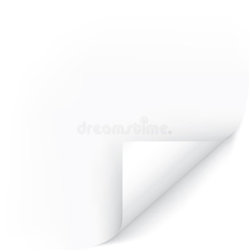 Canto da página branca ilustração stock
