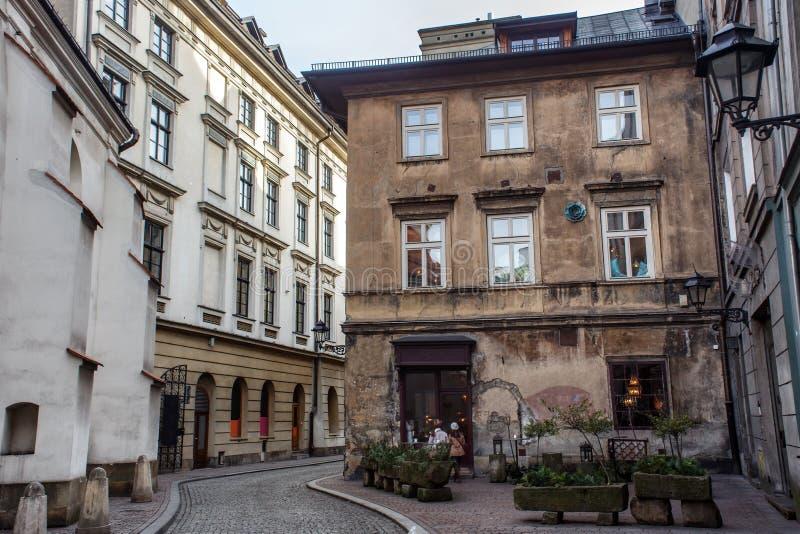 Canto de duvidar Thomas na parte histórica do Polônia de Krakow fotos de stock