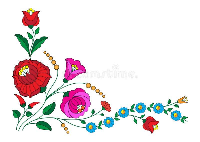 Canto de Kalocsa ilustração royalty free