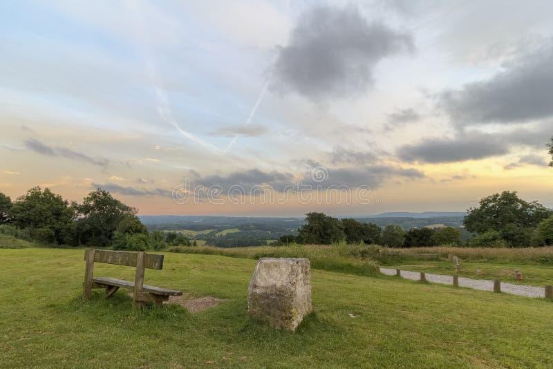 Canto de Newlands, Surrey AONB imagem de stock royalty free