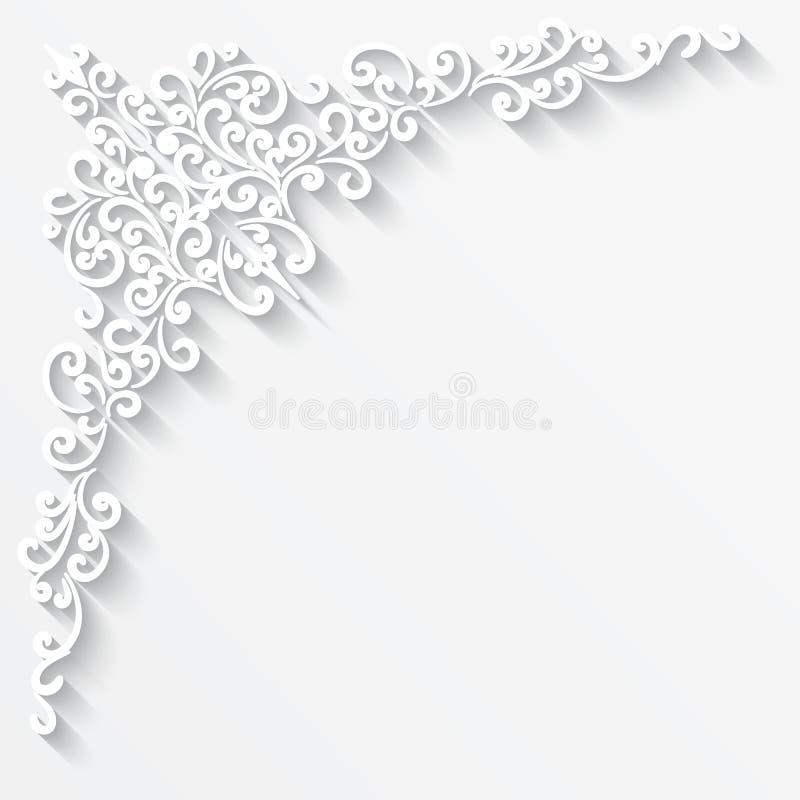 Canto de papel ilustração royalty free