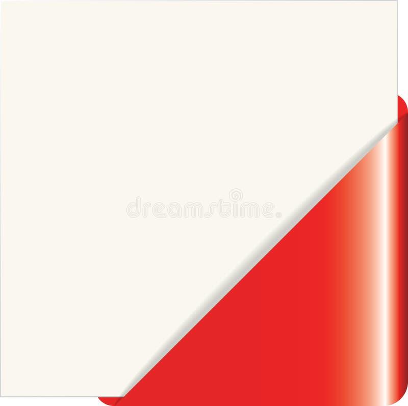 Canto de papel vermelho ilustração do vetor
