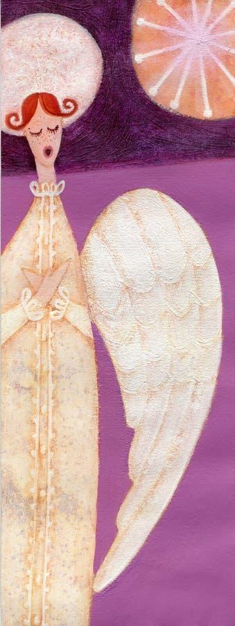 Canto del ángel stock de ilustración