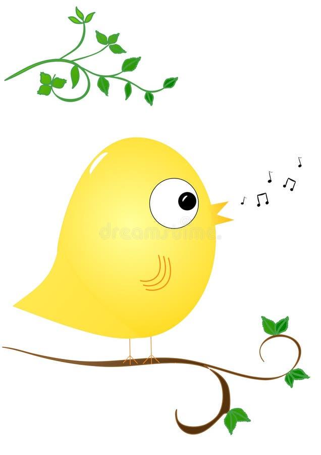 Canto del pájaro ilustración del vector