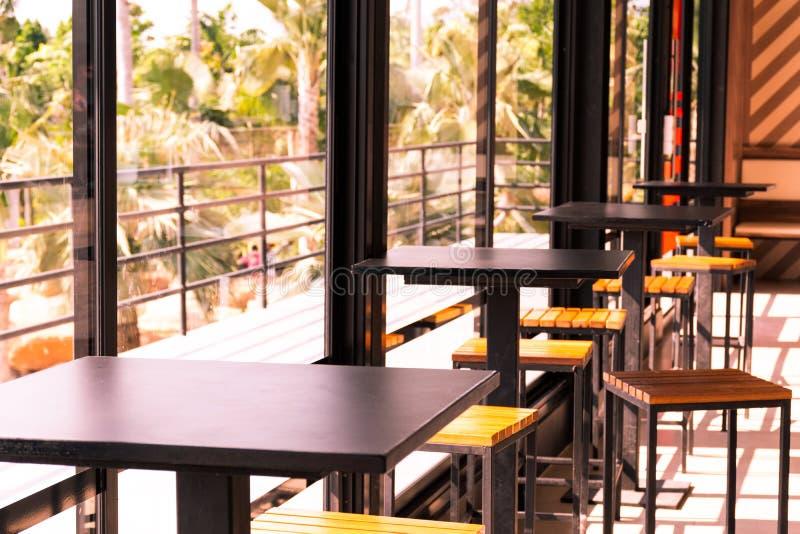 Canto do café na cafetaria fotografia de stock