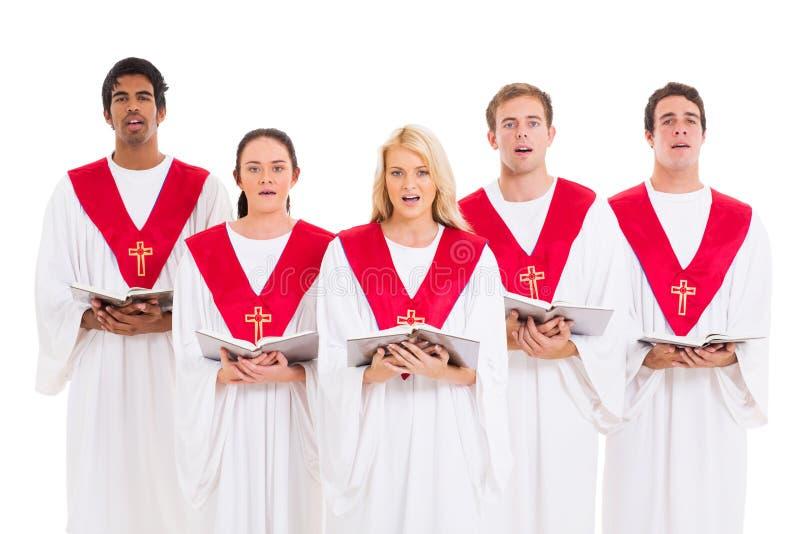 Canto do coro da igreja fotos de stock