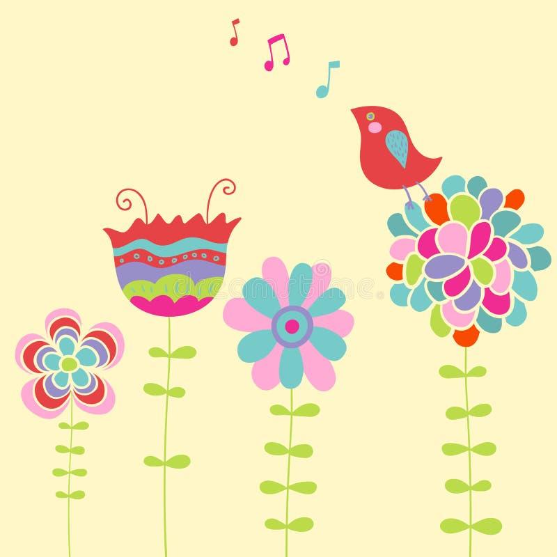 Canto do pássaro ilustração do vetor