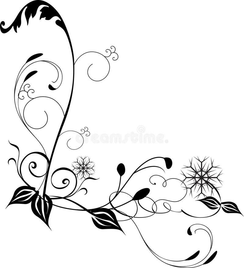 Canto do redemoinho ilustração stock