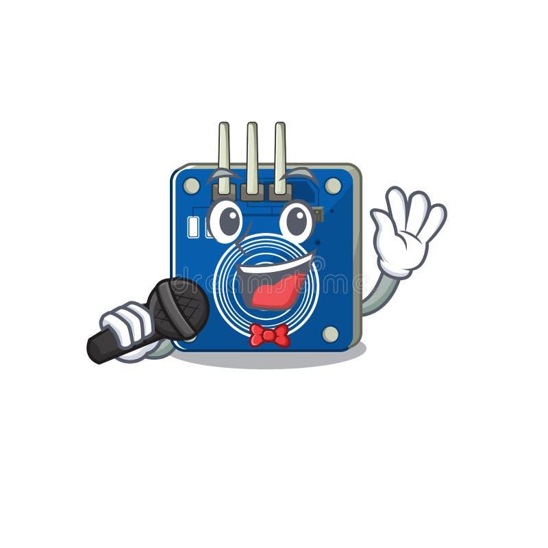 Canto dos sensores de toque para a parede de mascote ilustração stock