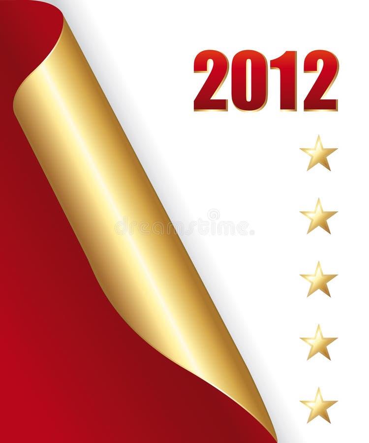 Canto dourado 2012 ilustração stock