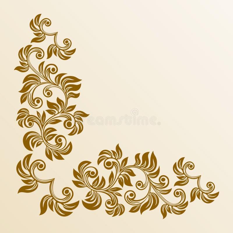 Canto floral ilustração royalty free