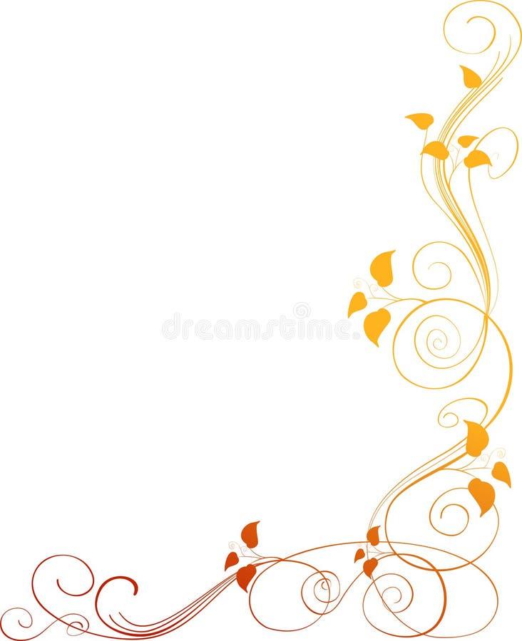 Canto floral ilustração stock