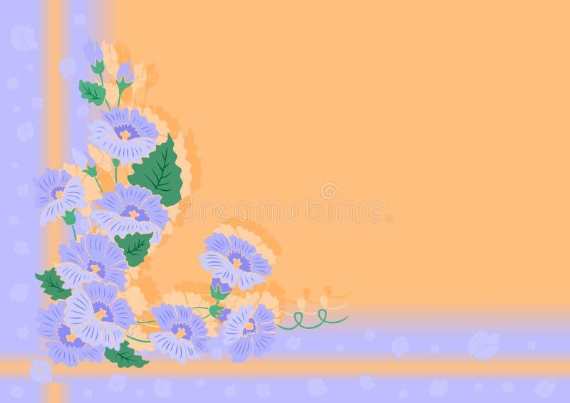 Canto floral abstrato com fundo ilustração royalty free