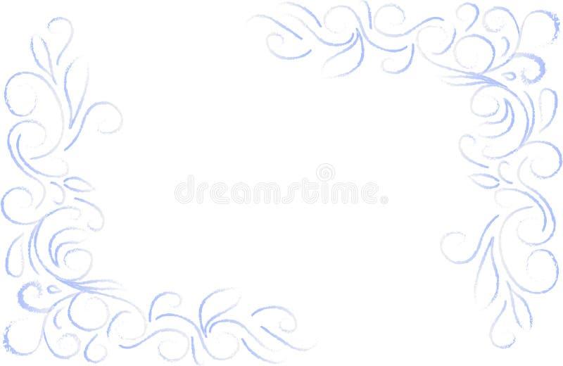 Canto floral azul ilustração do vetor