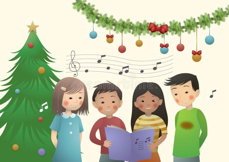 Canto natalizio di Chrismtas royalty illustrazione gratis