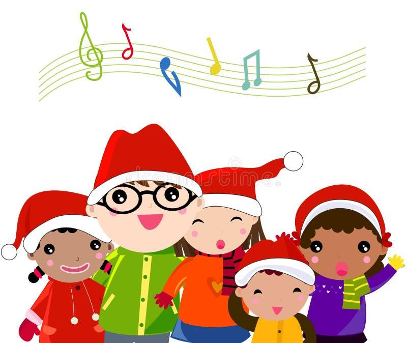 Canto natalizio di natale illustrazione vettoriale