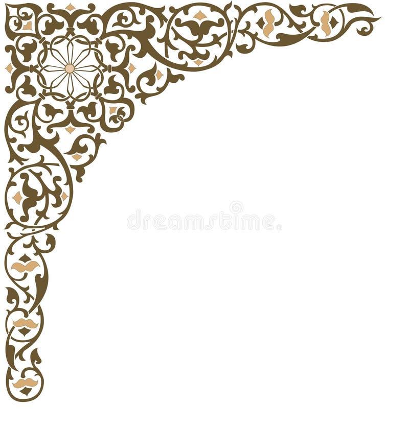 Canto ornamentado do frame ilustração stock