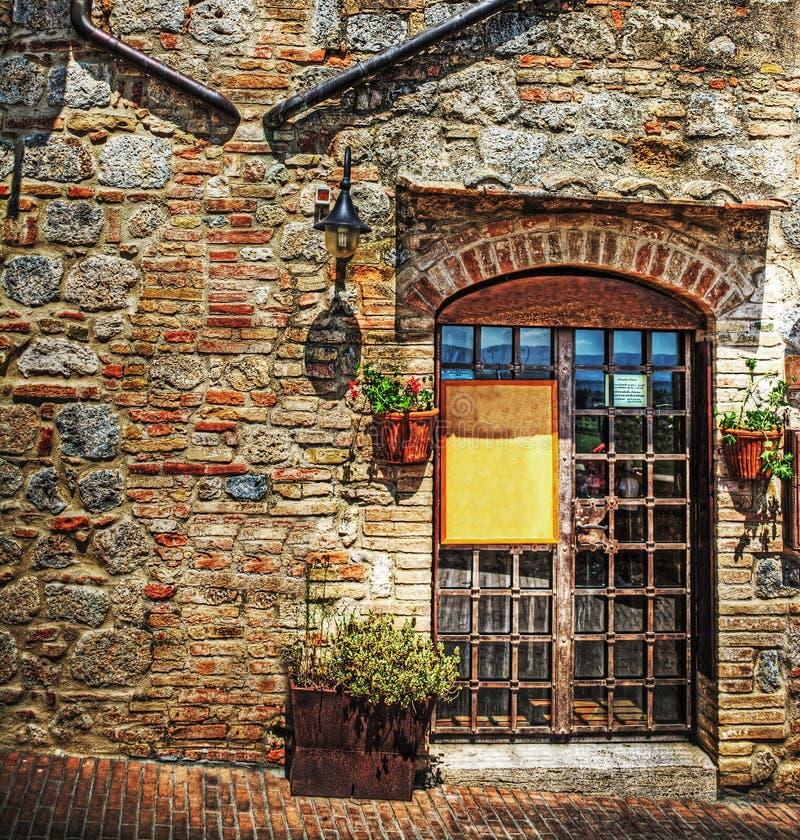Canto rústico em San Gimignano imagens de stock royalty free