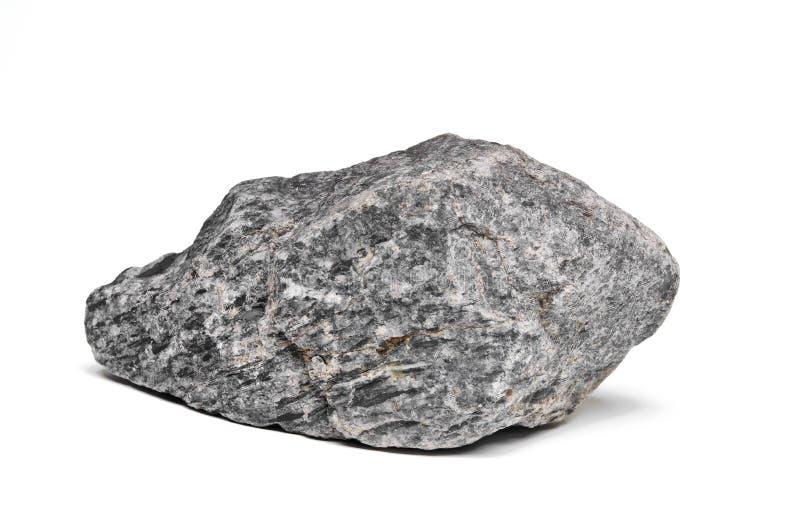 Canto rodado de la roca en blanco fotos de archivo