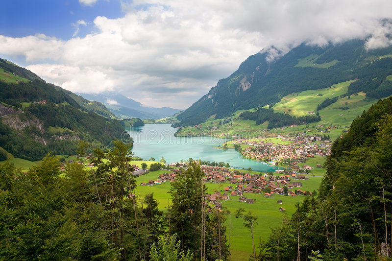 Canton of Fribourg, Switzerland. Beautiful landscape in the canton of Fribourg, Switzerland stock photos