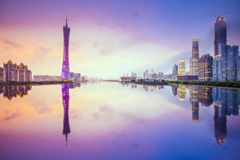 Canton, orizzonte della città della Cina fotografie stock