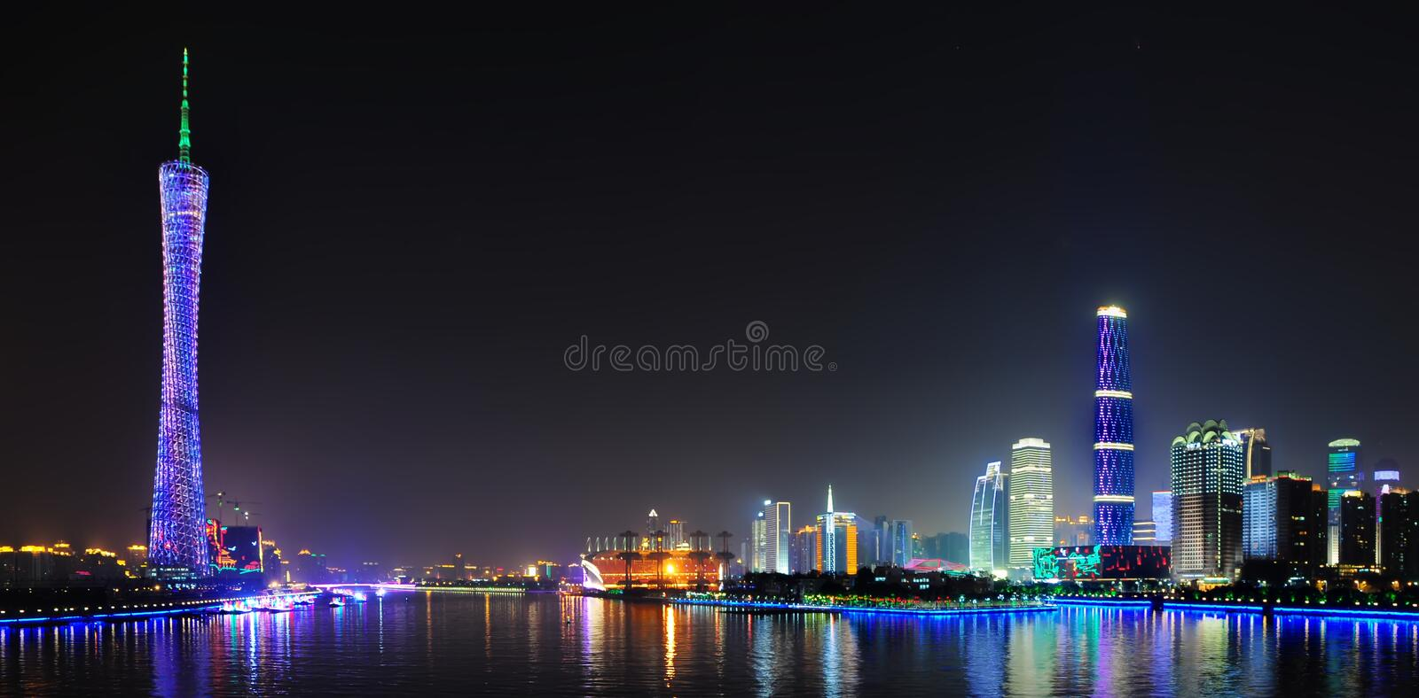 Download Canton Tower & GZ International Finance Center Stock Image - Image: 22286237