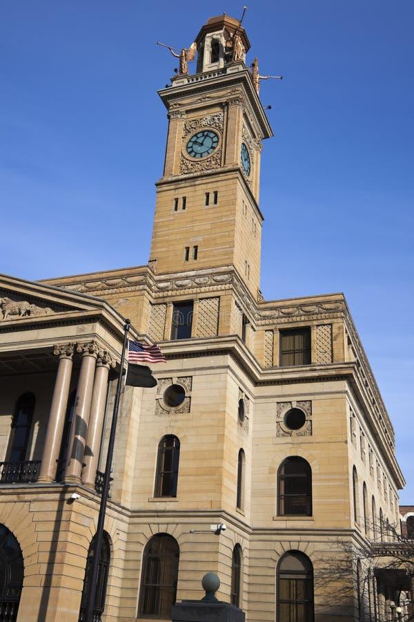 cantondomstolsbyggnad ohio royaltyfri fotografi