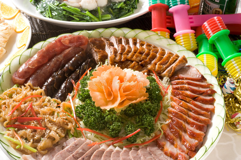 Cantonese barbecued Siu Mei plate stock images
