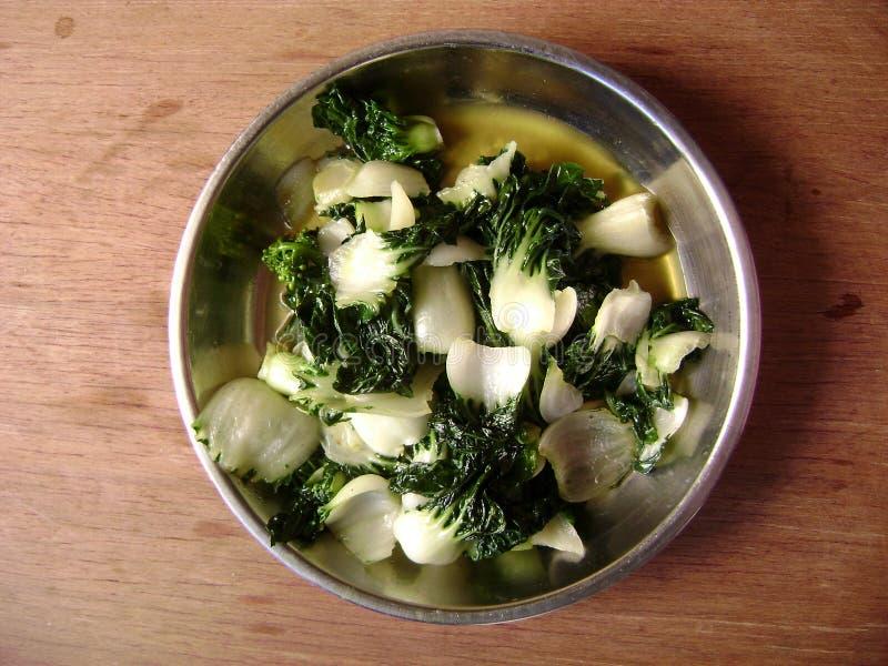 Cantonese food vegetable stir-fry pak choi royalty free stock photos