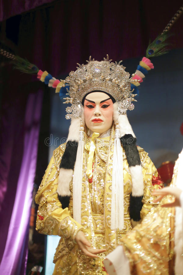 Cantonese opera actor. Wax figure in the hong kong museum of history stock image