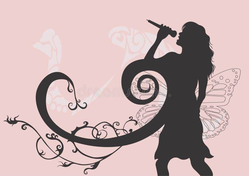 Download Cantor ilustração stock. Ilustração de artístico, silhueta - 528313