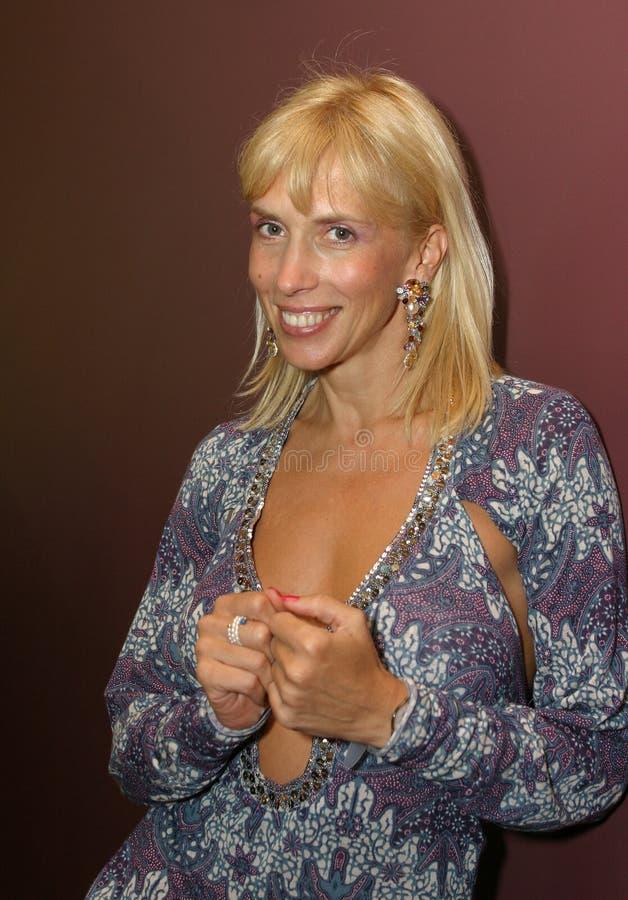 Cantor Alena Sviridova foto de stock