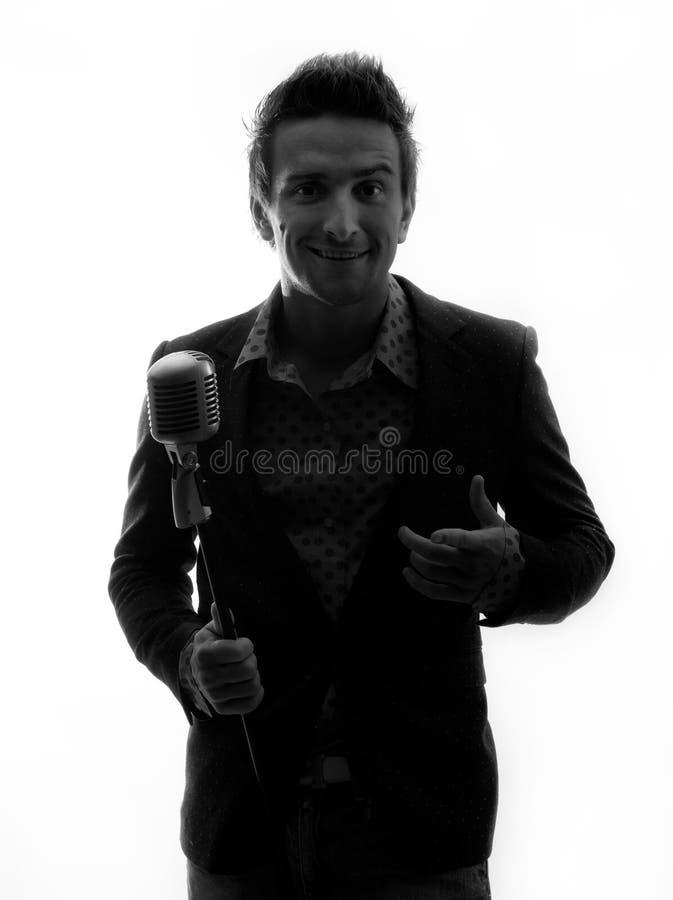 Cantor com microfone fotografia de stock royalty free