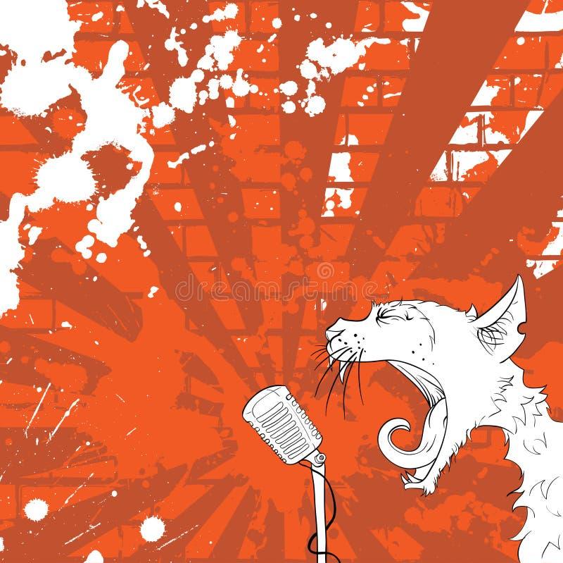 Cantor do gato ilustração royalty free