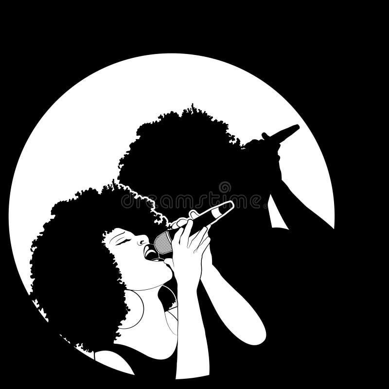 Cantor do jazz ilustração do vetor