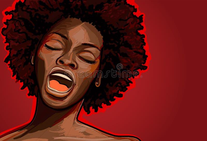 Cantor do jazz ilustração royalty free