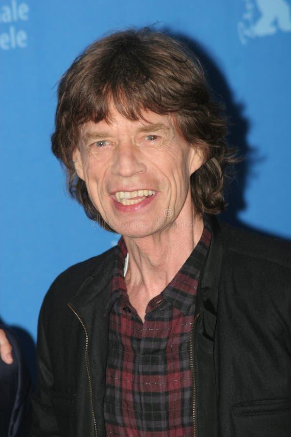 Cantor Mick Jagger de Rolling Stones imagem de stock
