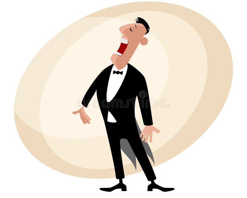 Cantor popular da ópera ilustração stock