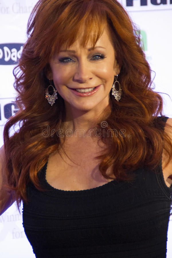 Cantor Reba McEntire do ator fotos de stock