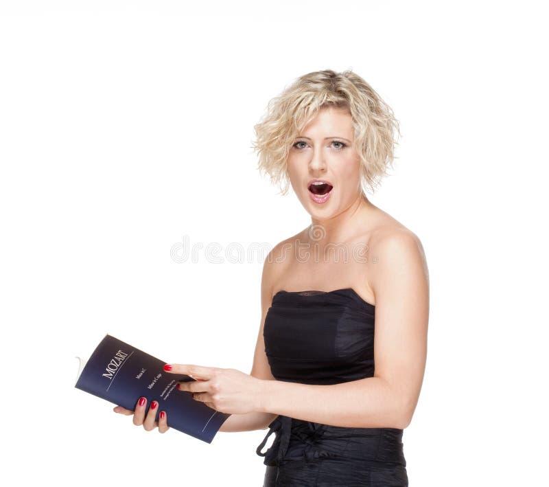 Cantor Singing de Opera foto de stock