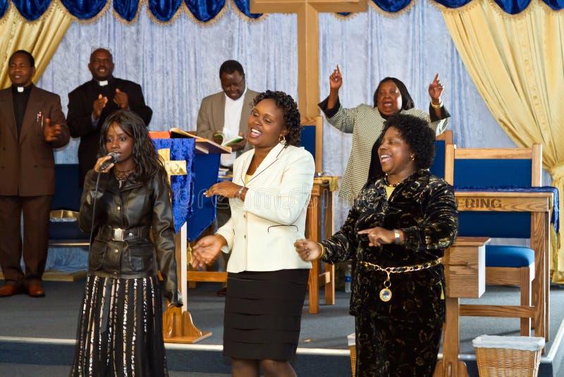 Cantores americanos do evangelho do Kenyan imagens de stock royalty free